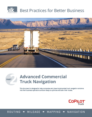 Best Practises Part 2: Advanced Commercial Truck Navigation
