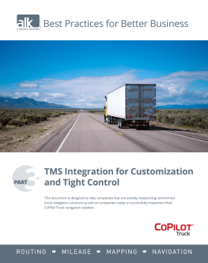 Best Practises Part 3: TMS Integration for Customisation and Tight Control