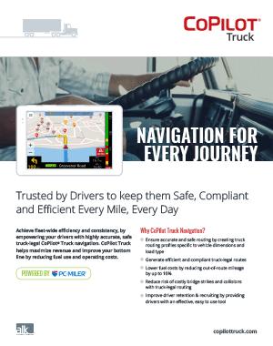 Commercial Fleet Navigation | CoPilot Truck